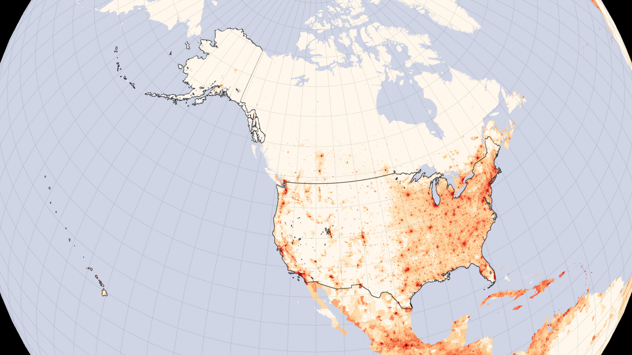 Maps Of The United States That Contrasts East From West And - Us map with population density