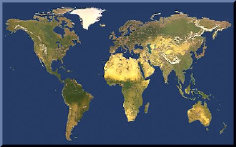 Large Map Of The USA Showing Natural Features - World map by satellite
